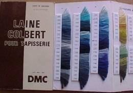 Catalogue DMC  LAINE COLBERT POUR TAPISSERIE,  CARTE DE COULEURS , REELS  ECHANTILLONS, WOOL FOR TAPESTRY, CARD COLORS, - Cross Stitch