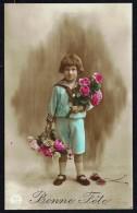 ENFANT - 1 Fillette Avec 2 Bouquets - Circulé Sous Enveloppe - Circulated Under Cover - Gelaufen Unter Umschlag - 1919. - Enfants