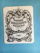 1553- Suisse  Grisons Schloss Mayenfeld 1981 - Etiquettes