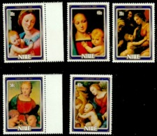 Niue 1983 - Scott 395/99 (MNH) Christmas By Raphael - Niue
