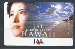 JAPAN Telefonkarte Frau, Women,  JAL- Airline - - Avions