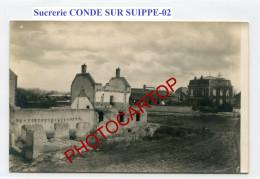 Sucrerie-CONDE SUR SUIPPE-CARTE PHOTO Allemande-Guerre 14-18-1 WK-France-02- - Frankreich