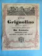 1558 - Italie  Vino Grignolino Costigliole D´Asti - Etiquettes