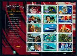 MARSHALL ISLANDS 1999 20TH CENTURY VII - DECADE OF UPHEAVAL & EXPLORATION SHEET MNH M04508 - Marshall Islands