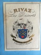 1576 -  Suisse Vaud  Rivaz Les Déserts Olivier Simon - Etiquettes