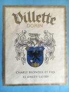 1582 -  Suisse Vaud Villette Dorin  Cjarly Blondel - Etiquettes