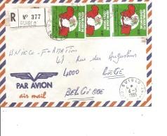 Cote D'Ivoire ( Lettre Recommandée Par Avion De 1985 De Guiglo Vers La Belgique à Voir) - Ivory Coast (1960-...)