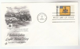 1968 Art Craft USA FDC PHILADELPHIA LIGHT HORSE FLAG  Stamps Cover Pittsburgh - First Day Covers (FDCs)