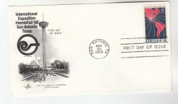1968 Art Craft USA FDC INTERNATIONAL EXPO  Stamps Cover San Antonio Texas - First Day Covers (FDCs)