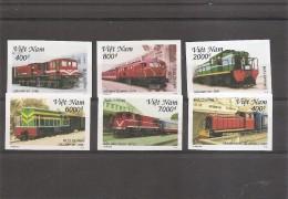 Trains ( 1990/1995 Non Dentelés XXX -MNH- Du Vietnam) - Treinen