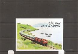 Trains ( BF 110 Non Dentelé XXX -MNH- Du Vietnam) - Treinen