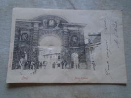 D139135  LODI Rara Cartolina , Porta D´Adda, Animata  Ca 1900   BAD GRADE - Lodi