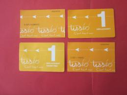 Titre De Transport 4 Tickets Billet De BUS Métro Tisséo Toulouse=>10 - 2- 1-1- Déplacements-Ticket Pro 2016 - Métro