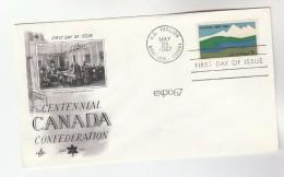 1967  USA FDC CANADA CENTENNIAL SPECIAL Pmk US PAVILION MONTREAL CANADA Montreal Expo - 1967 – Montreal (Kanada)