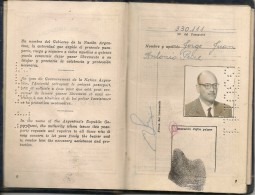 ARGENTINA - 1959 PASSPORT - PASSEPORT -  NICARAGUA-GUATEMALA-USA-ISRAEL-FRANCIA (mixed NF+ Old REVENUES Stamps) MEXICO - Documentos Históricos
