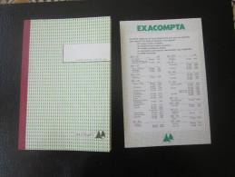 AGENDA PAPIER QUADRILLE VIERGE AUTOCOPIANT SANS CARBONE PHOTOCOPIABLE-MICROFILMABLE-MAIS INFALSIFIABLE 41 PAGEEXACOMPTA - Libros, Revistas, Cómics