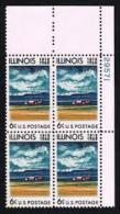 Plate Block -1968 USA Illinois Statehood Stamp Sc#1339 Farm House Grain Cloud - Climate & Meteorology