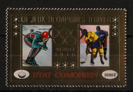 Comores - Poste Aérienne N°Yv. 103 - Timbre Or - Olympics - Neuf Luxe ** - MNH - Postfrisch - Invierno 1976: Innsbruck
