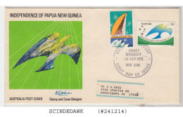 AUSTRALIA - 1975 INDEPENDENCE OF PAPUA NEW GUINEA - 2V - FDC - Premiers Jours (FDC)