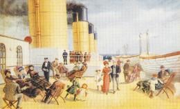 "C P M Bateau Navire Paquebot Pont 2 Eme Classe "" Titanic "" 1911 Paquebot  White Star Britannique - Paquebots"
