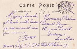 FM 1916 Trésors Et Postes 60 De ... Secteur 57 Cad Arrivée Taverny Seine Et Oise Sur Cpa Creil Rue De La République - Marcophilie (Lettres)