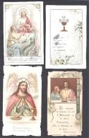 Villeneuvette  ( Hérault ) 4 Images Souvenir De Première Communion - 2 Scans - Images Religieuses