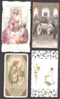Bédarieux  ( Hérault ) 4 Images Souvenir De  Communion - 2 Scans - Devotion Images