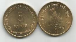 Myanmar  5 Kyats  1999. KM#61 - Myanmar