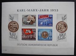 Karl-Marx-Jahr 1953 - Blocks & Kleinbögen