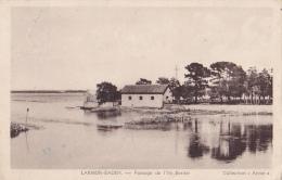 Larmor Baden - Passage De L'ile Berder - Circulé 1945, Cachet Hexagonal Perlé, Peu Lisible - France