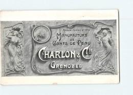 Manufacture De Gants De Peau CHARLON & Cie - Avis De Passage Sur Carte Publicitaire - 2 Scans - Publicité