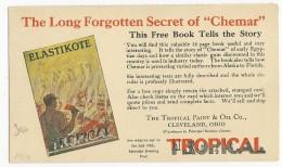 """USA - 1927 - CARTE ENTIER PUBLICITAIRE COULEUR ! De CLEVELAND - PEINTURES ET HUILES """"TROPICAL"""" - 1921-40"""