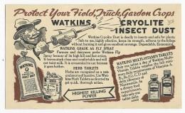 USA - CARTE ENTIER PUBLICITAIRE BICOLORE  - INSECTISIDE WATKINS - 1941-60