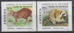 El Salvador 1993 Yvert 1178-79, America UPAEP, Fauna Species In Danger - MNH - El Salvador