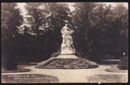 CPA - (Roumanie) Ramnicul - Valcea - Gradina Zavoiu Cu Statuia Stirbey - Romania