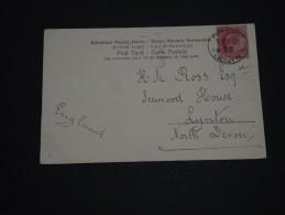 GRANDE BRETAGNE / INDE - Oblitération De Calcutta Sur Carte Postale Pour Lynton En 1905 - A Voir - L 1384 - 1902-11 King Edward VII