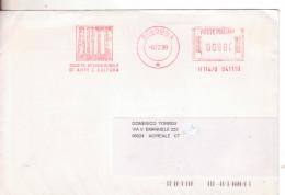 103--Invito Al Collezionismo Di Acireale:Repubblica-Storia Postale-Affrancatura Rossa Artè-v.1999 Da Bologna X Acireale - Affrancature Meccaniche Rosse (EMA)