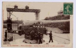 71 LE CREUSOT USINES SCHNEIDER ESSAIS D4un Canon De 240 Mm AFFÛT A PIVOT CENTRAL - Ausrüstung