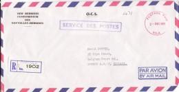 Vila Postage Paid 1977 - Registered Lettre Recommandée Avec étiquette - Hebrides - English Legend