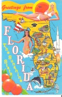 Map   Greetings From Florida  The Sunshine State - Maps