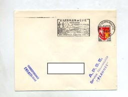 Lettre Flamme Saint Germain Parc Equitation - Marcophilie (Lettres)
