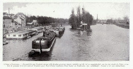 1909 - Iconographie Documentaire - Pontoise (Val-d´Oise) - L'Oise - FRANCO DE PORT - Old Paper