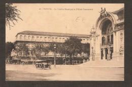 SAIGON - Le Théâtre Municipal Et L´Hôtel Continental  ( Vieile Voiture ) - Viêt-Nam