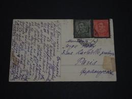 YOUGOSLAVIE - Oblitération De Belgrade Sur Carte Postale En 1935 Pour Paris - A Voir - L 1406 - 1931-1941 Royaume De Yougoslavie