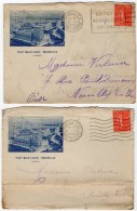 TB 2020 - LSC - 2 Lettres Illustrées Fort Saint Jean à  MARSEILLE - Stamps