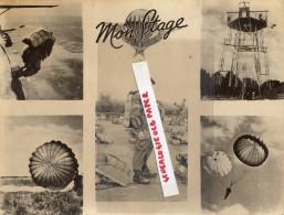 64 - PAU - BELLE PHOTO ORIGINALE PARACHUTISME -PARACHUTE - MON STAGE - CACHET PHOTO ENA PAU - Luftfahrt