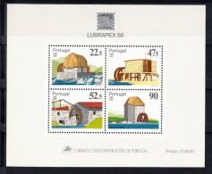 PORTUGAL 1986.LUBRAPEX '86. AZENHAS   AFINSA Nº BLOCO Nº 88 NOVO  SEM CHARNEIRA.SES375GRANDE - Molinos