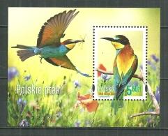 POLAND MNH ** Bloc 220 Faune Oiseau Guêpier D´Europe Oiseaux Bird - Blocks & Kleinbögen