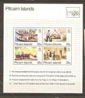 Pitcairn 1980 - Bloc MNH - YT BL 6 - London 1980 - Transport Du Courrier - Bateau - Tracteur - Timbres