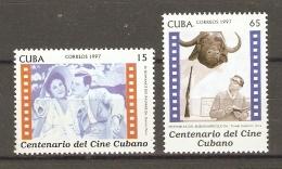Cuba 1997 - Centenaire Du Cinéma Cubain - YT 3605/06  MNH - Memorias Del Subdesarrollo - El Romance Del Palmar  - Buffle - Cinéma